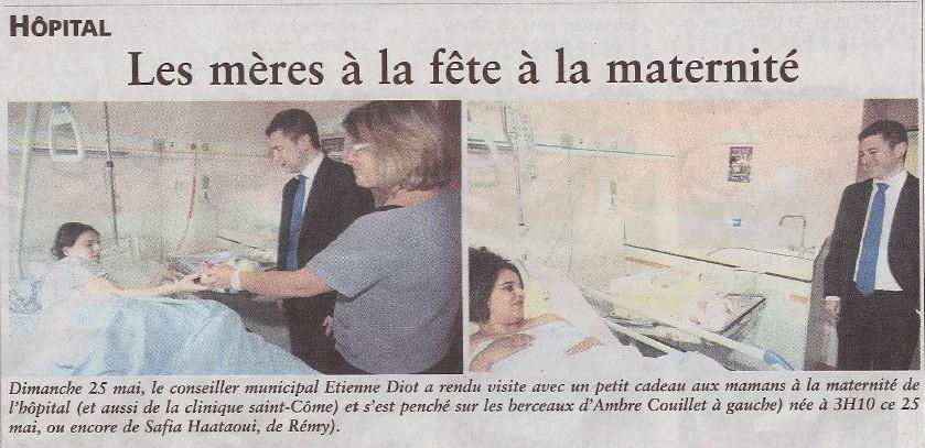 Oise hebdo 28 mai 2014 Compiègne fête des mères maternité