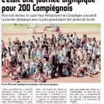 Courrier Picard journée olympique Compiègne CDOS