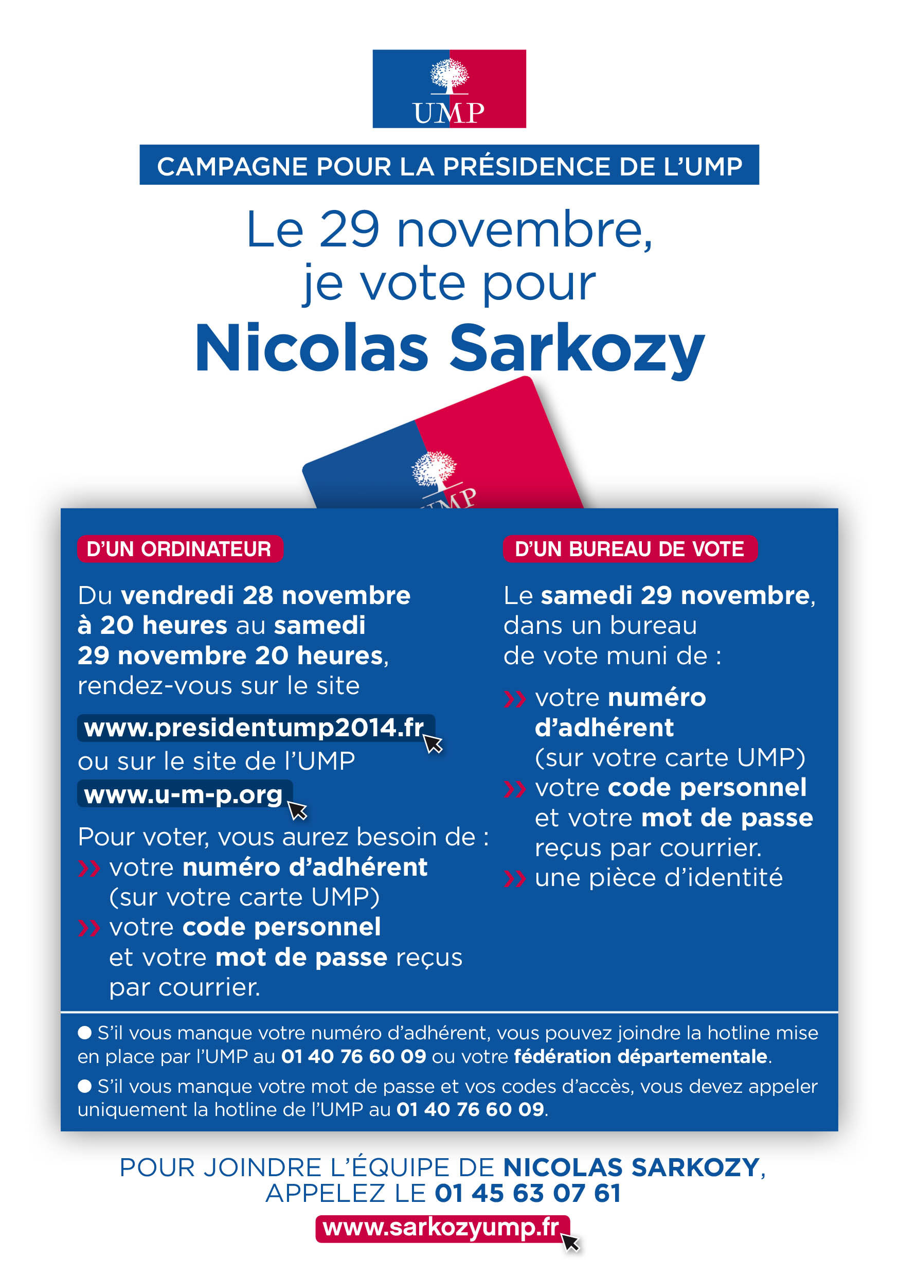 pr sidence de l ump comment voter pour nicolas sarkozy. Black Bedroom Furniture Sets. Home Design Ideas