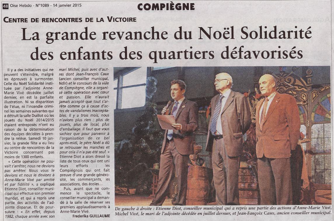 Oise hebdo 19012015 Noël solidarité Compiègne