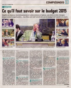 Courrier Picard 6 avril budget