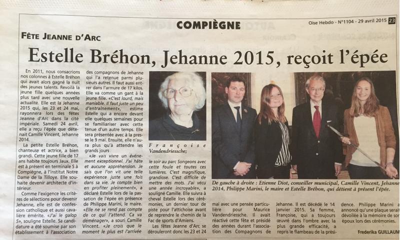 Oise Hebdo 29 avril 2015 Jeanne