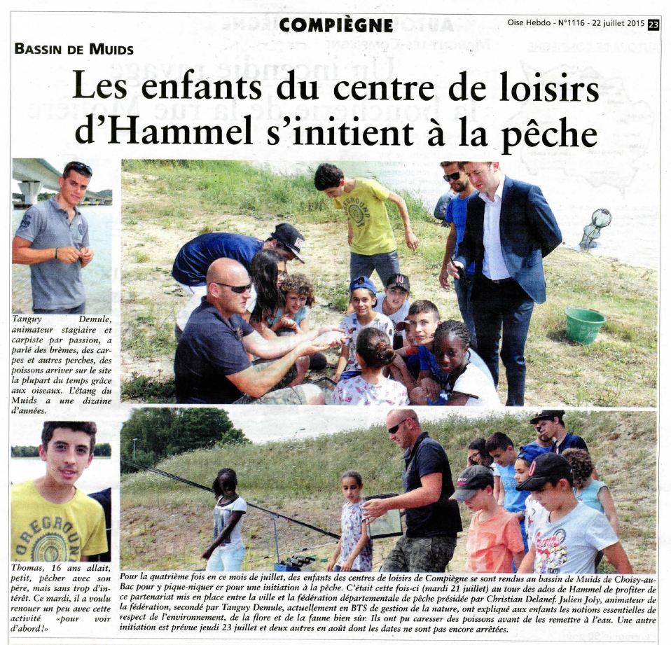 OH 22072015 - Les enfants du centre de loisirs d'Hammel s'initient à la pêche