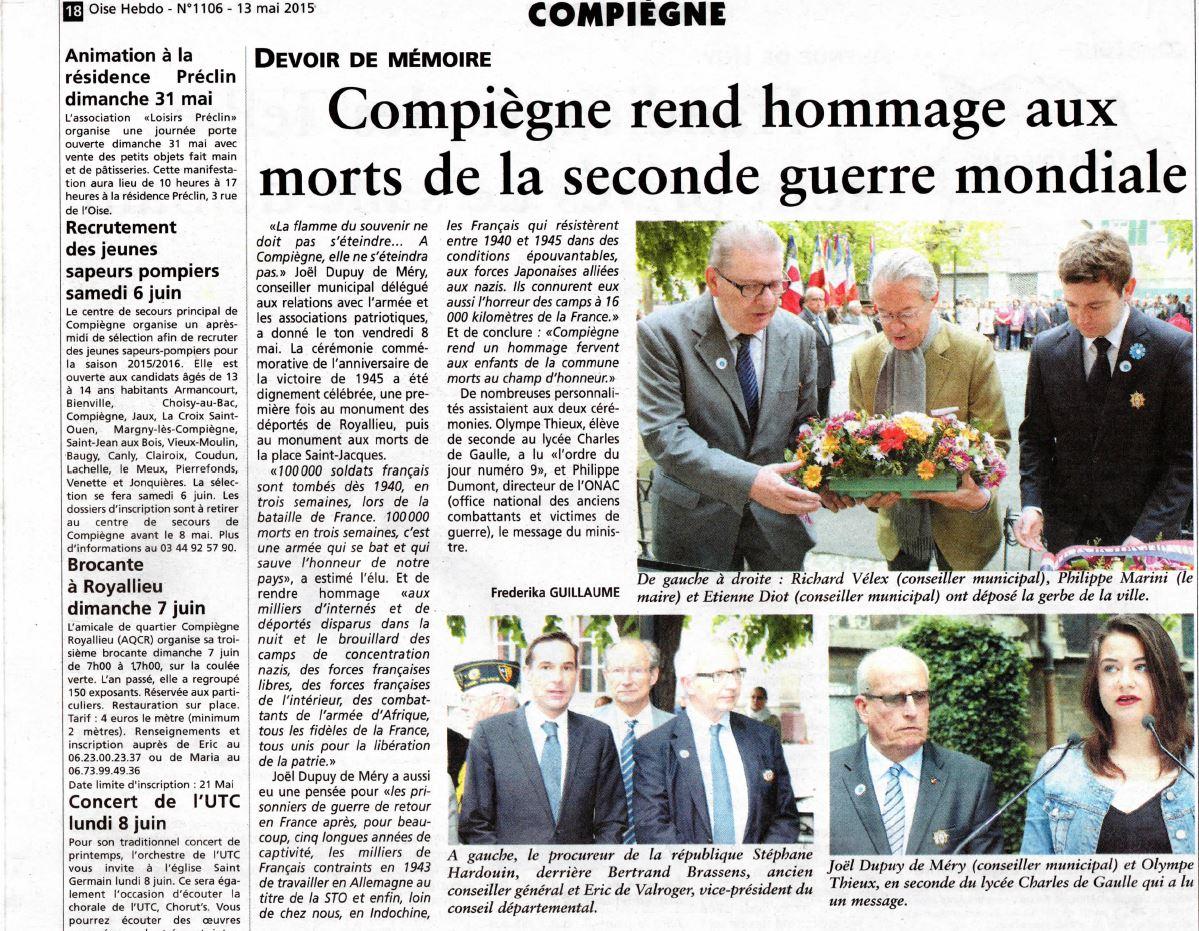 Oise Hebdo 13052015 8 mai Compiègne