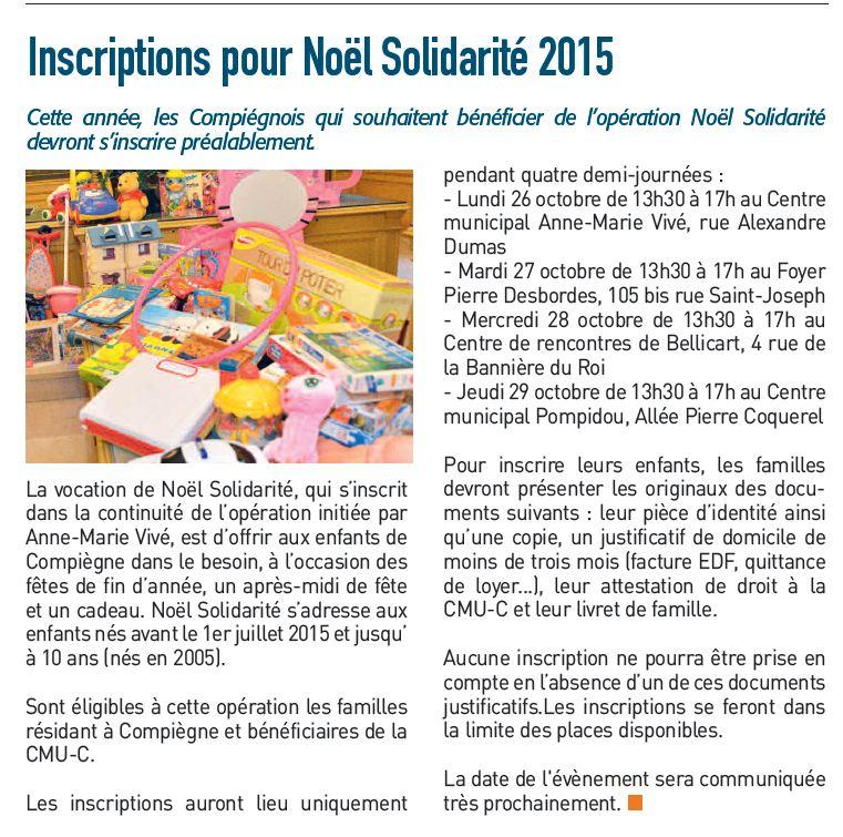 CNV Noël solidarité 2015 Compiègne