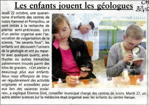 Oise hebdo centres de loisirs Compiègne 28 10 2015