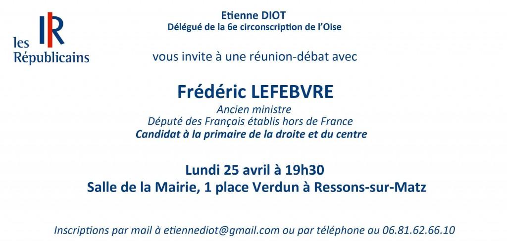 Invitation Frédéric Lefèbvre Ressons