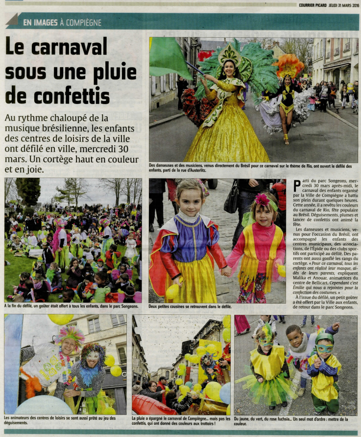 Courrier Picard 31 mars carnaval 2016