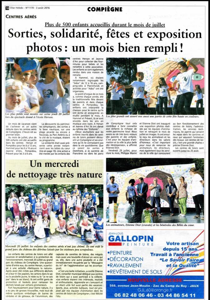 Oise hebdo 4 août 2016