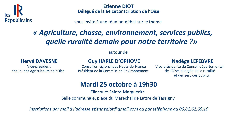 Invitation Républicains Compiègne Noyon Ruralité