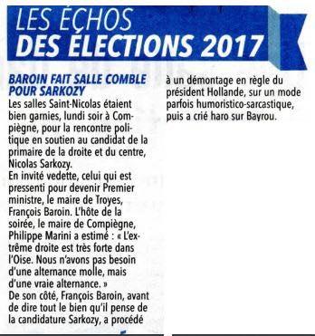 Courrier Picard François Baroin à Compiègne