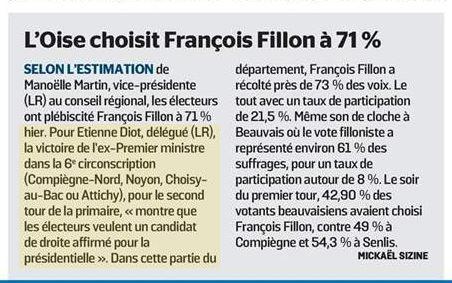 Le Parisien 28 novembre 2016