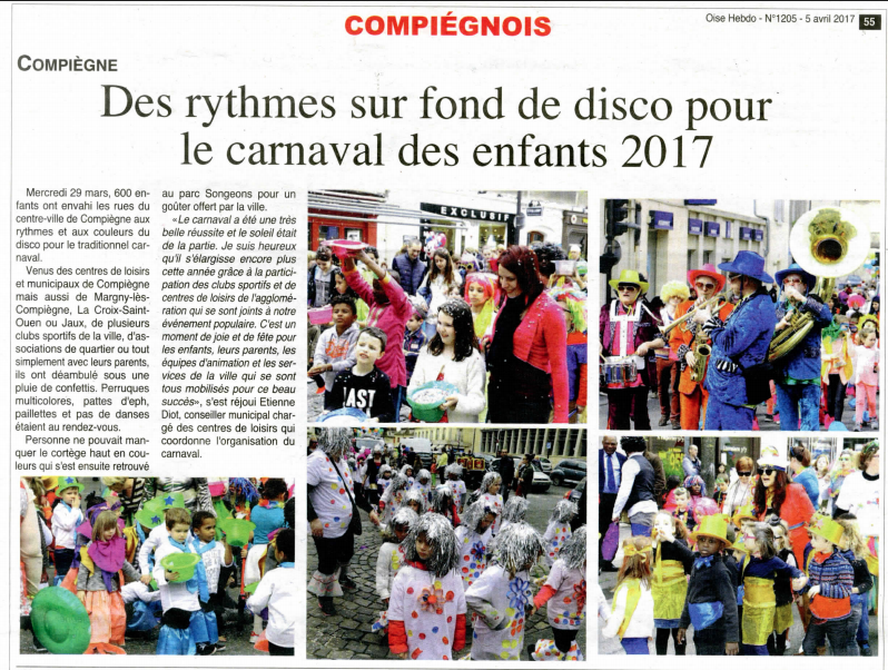 Oise hebdo Carnaval des enfants 2017 Compiègne