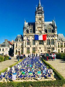 Bleuets jardin de la mémoire de Compiègne centenaire