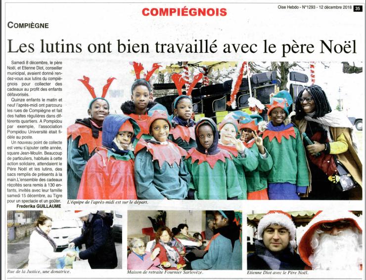 Lutins Compiegne Noel solidarité